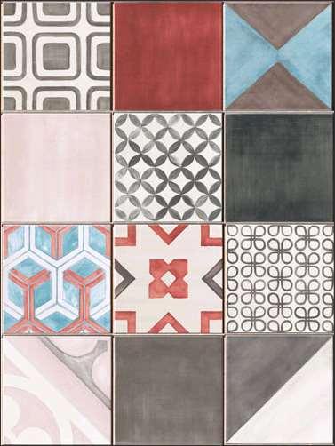 faience iris ceramica kreo 12 pieces diverses couleurs m lang es 80 x 60 vente. Black Bedroom Furniture Sets. Home Design Ideas