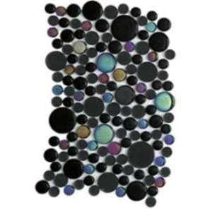 Mosaique Noohn mosaics Glacier moon diamond black