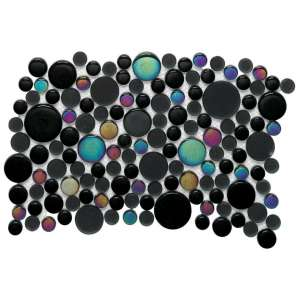 Mosaique Noohn mosaics Glacier moon metallic black