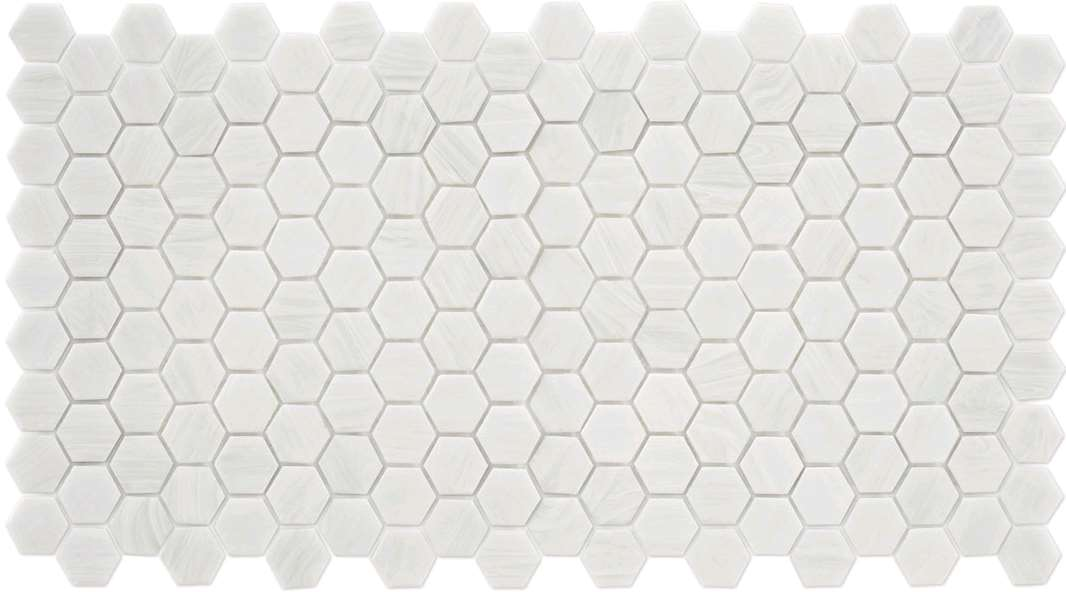 Mosaique trend hexagonal hex 280 bianco assoluto blanc 35 for Carrelage blanc hexagonal