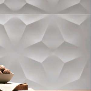 Eléments de finition et décors 3d wall design Diamond white matt