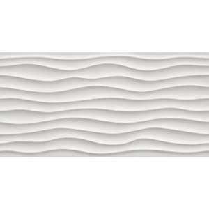 Faience 3d wall design Dune white mat/ret