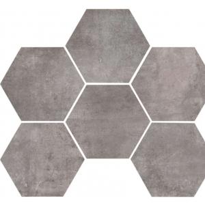 Carrelage Marazzi Clays Hexagon Lava Nat Gris X Vente En - Carrelage hexagonal gris