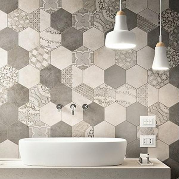 Carrelage Marazzi Clays Hexagon cotton nat Beige 21 x 18, vente en ligne de carrelage pas cher a ...