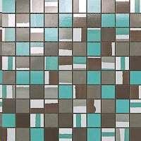 Mosaique Atlas concorde Dwell Mosaico mix turquoise Bleu 31 x 31 ...