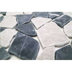 Mosaique Naturstein mosaik Crush black & grey