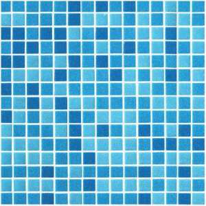 Mosaique Piscine Mosaico mix blu