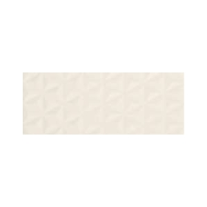 Faience Design positive wall Facettes blanc