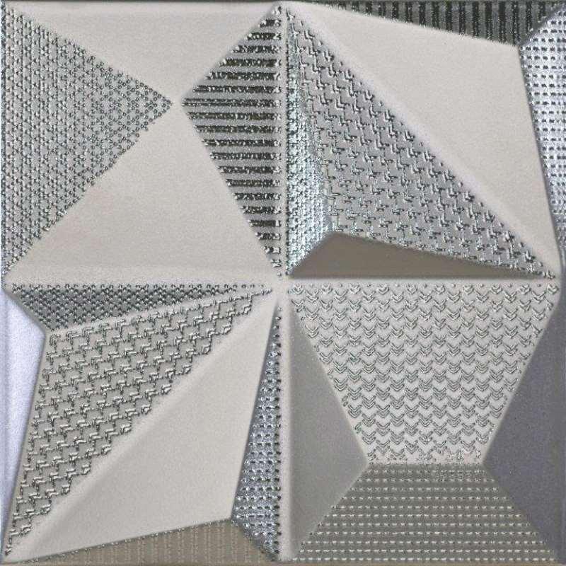 Faience Dune Megalos Multishapes Silver Métallisé 25 X 25, Vente