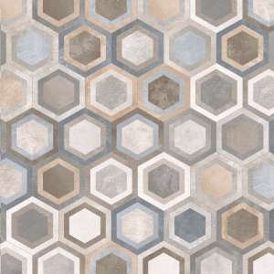Carrelage Rift Hexagono.bushmills multicor