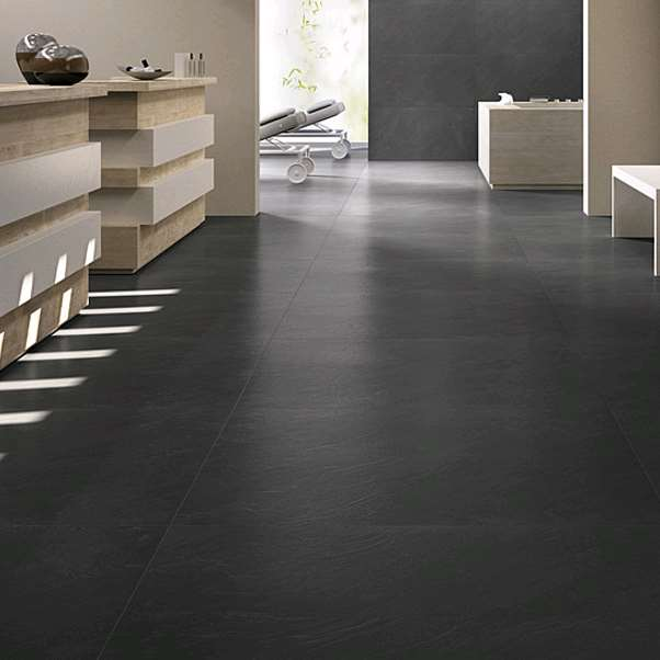 Carrelage leonardo ceramica stone project oceanblack nat for Carrelage stone