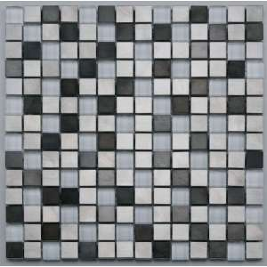 Mosaique Pixel White metal mix