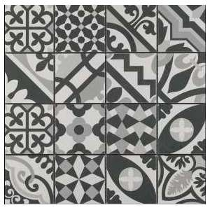 Mosaique Patchwork Black and white