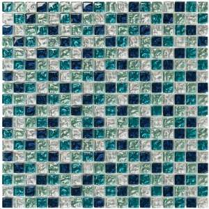 Mosaique Brilliant glass Aquamarine tessera 1.5x1.5