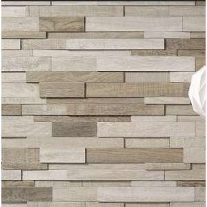 Mosaique Wood mood Mosaico 3d bianco