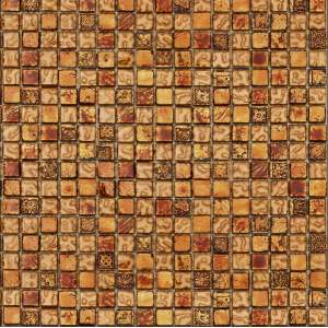 Mosaique Mosaic mixed material Tuscany/warm gold