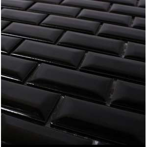 Carrelage Metro Black brillo