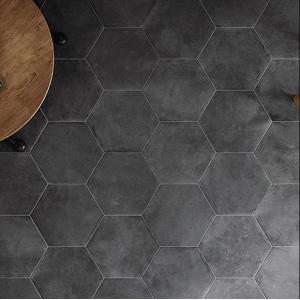 Carrelage Equipe Urban Hexagon Dark Noir 29 X 25 Vente En