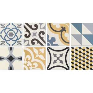 Carrelage Neocim plus patch Patchwork bleu/caramel