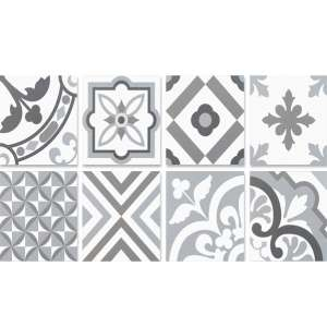 Carrelage Neocim plus patch Patchwork gris/plom