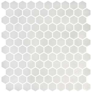 Mosaique Hex stoneglass Mosaico white semi brillant