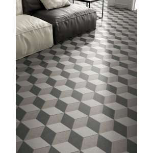 Carrelage Traffic hex 25 3d grey