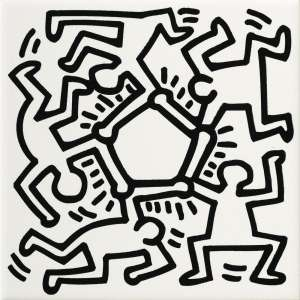 Décor et finition Keith haring Game of fifteen