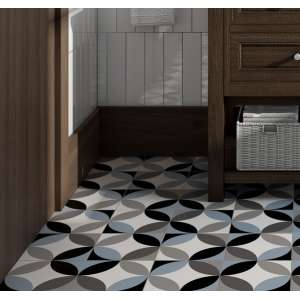 Carrelage Black et white Circular &